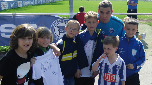 Feriencamp Besuch Hertha-Training