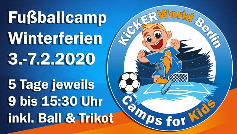 Fussball Feriencamp Kickerworld Berlin